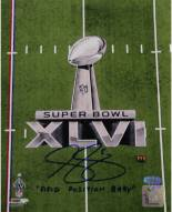 "Steve Weatherford SB XLVI Logo Vertical 8 x 10 Photo w/ ""Field Position Baby"""
