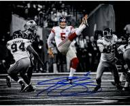 Steve Weatherford Signed Punting in Super Bowl 8 x 10 Photo