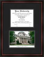 University of South Carolina Diplomate Framed Lithograph with Diploma Opening