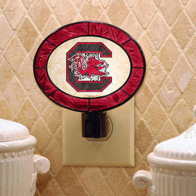 South Carolina Gamecocks NCAA Stained Glass Night Light
