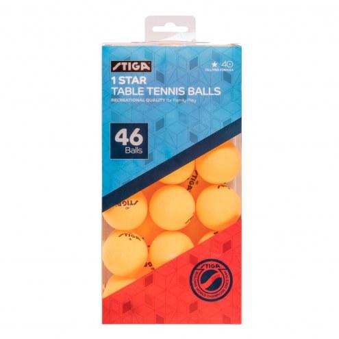 Stiga 46-Pack Table Tennis Balls - Orange