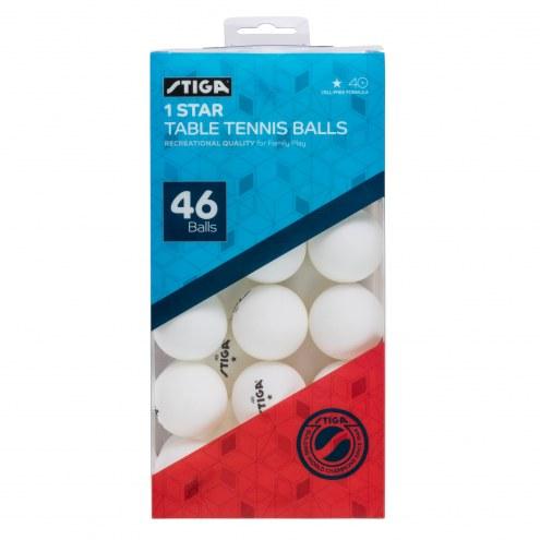 Stiga 46-Pack Table Tennis Balls - White