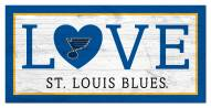 """St.Louis Blues 6"""" x 12"""" Love Sign"""