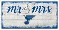 St.Louis Blues Script Mr. & Mrs. Sign