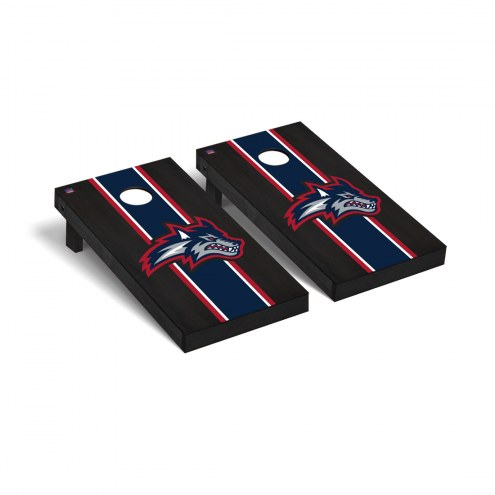 Stony Brook Seawolves Onyx Stained Cornhole Game Set