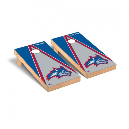 Stony Brook Seawolves Triangle Wooden Cornhole Game Set
