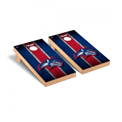 Stony Brook Seawolves Vintage Wooden Cornhole Game Set