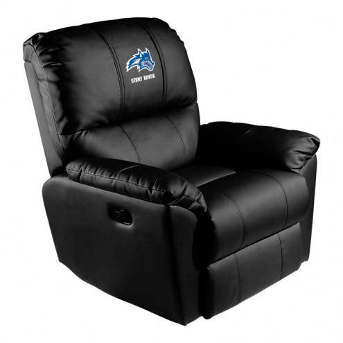Stony Brook Seawolves XZipit Rocker Recliner with Wolfie Logo