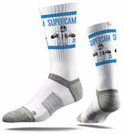 Strideline Carolina Panthers Cam Newton Adult Crew Socks
