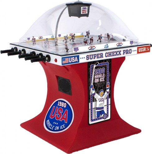 "Super Chexx Pro USA ""Miracle On Ice"" Bubble Hockey"