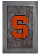 "Syracuse Orange 11"" x 19"" City Map Framed Sign"
