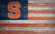 "Syracuse Orange 11"" x 19"" Distressed Flag Sign"