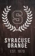 """Syracuse Orange 11"""" x 19"""" Laurel Wreath Sign"""