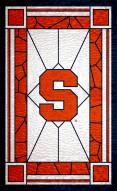 """Syracuse Orange 11"""" x 19"""" Stained Glass Sign"""