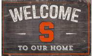 """Syracuse Orange 11"""" x 19"""" Welcome to Our Home Sign"""