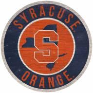 "Syracuse Orange 12"" Circle with State Sign"