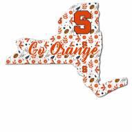 "Syracuse Orange 12"" Floral State Sign"