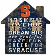 """Syracuse Orange 12"""" House Sign"""