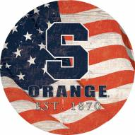 "Syracuse Orange 12"" Team Color Flag Circle Sign"