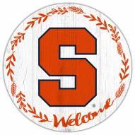 "Syracuse Orange 12"" Welcome Circle Sign"