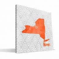 "Syracuse Orange 12"" x 12"" Home Canvas Print"