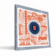 "Syracuse Orange 16"" x 16"" Pictograph Canvas Print"