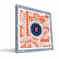"Syracuse Orange 16"" x 16"" Pictograph Canvas Print"