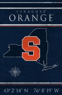 "Syracuse Orange 17"" x 26"" Coordinates Sign"