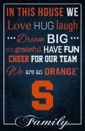"""Syracuse Orange 17"""" x 26"""" In This House Sign"""