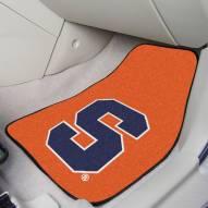 Syracuse Orange 2-Piece Carpet Car Mats