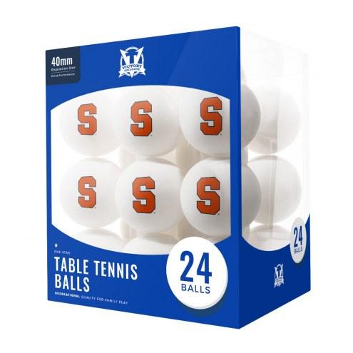 Syracuse Orange 24 Count Ping Pong Balls