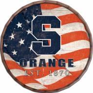 "Syracuse Orange 24"" Flag Barrel Top"