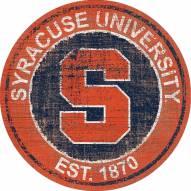"""Syracuse Orange 24"""" Heritage Logo Round Sign"""