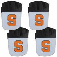 Syracuse Orange 4 Pack Chip Clip Magnet with Bottle Opener
