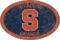 "Syracuse Orange 46"" Team Color Oval Sign"