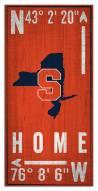 "Syracuse Orange 6"" x 12"" Coordinates Sign"