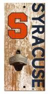 "Syracuse Orange 6"" x 12"" Distressed Bottle Opener"