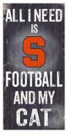 "Syracuse Orange 6"" x 12"" Football & My Cat Sign"