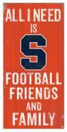 "Syracuse Orange 6"" x 12"" Friends & Family Sign"