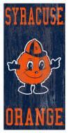 """Syracuse Orange 6"""" x 12"""" Heritage Logo Sign"""