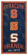 "Syracuse Orange 6"" x 12"" Heritage Sign"