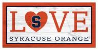 "Syracuse Orange 6"" x 12"" Love Sign"