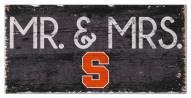 "Syracuse Orange 6"" x 12"" Mr. & Mrs. Sign"