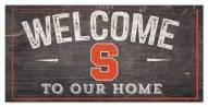 "Syracuse Orange 6"" x 12"" Welcome Sign"