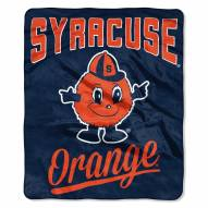 Syracuse Orange Alumni Raschel Throw Blanket