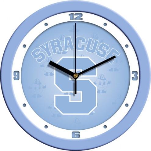 Syracuse Orange Baby Blue Wall Clock