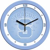 Syracuse Orange Baby Blue Wall Clock