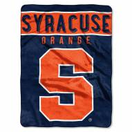 Syracuse Orange Basic Plush Raschel Blanket