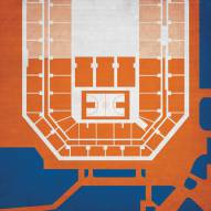Syracuse Orange Basketball Arena Print