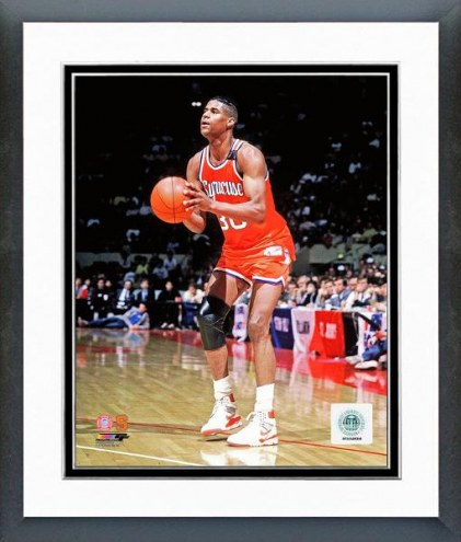 Syracuse Orange Billy Owens 1990 Action Framed Photo